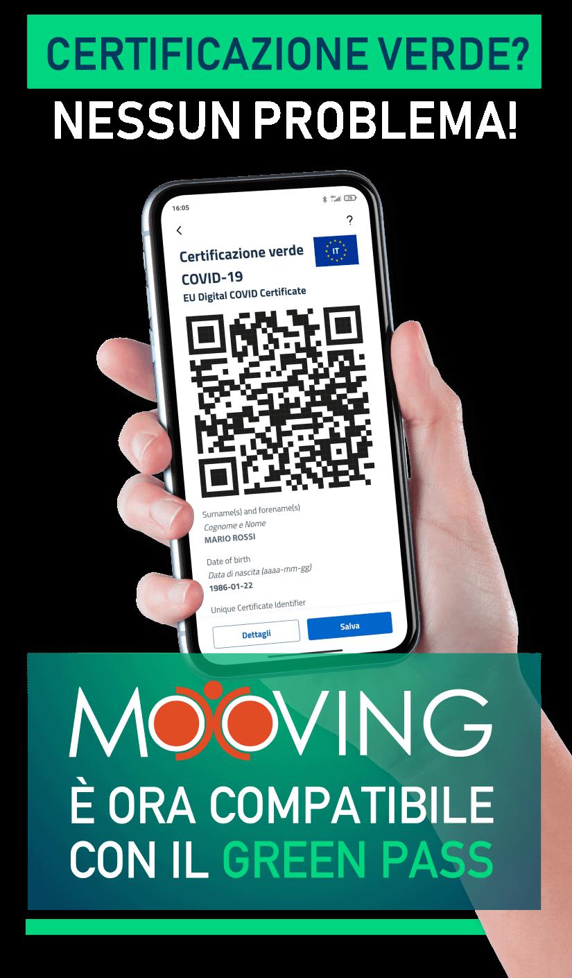 Mooving compatibile con Green Pass