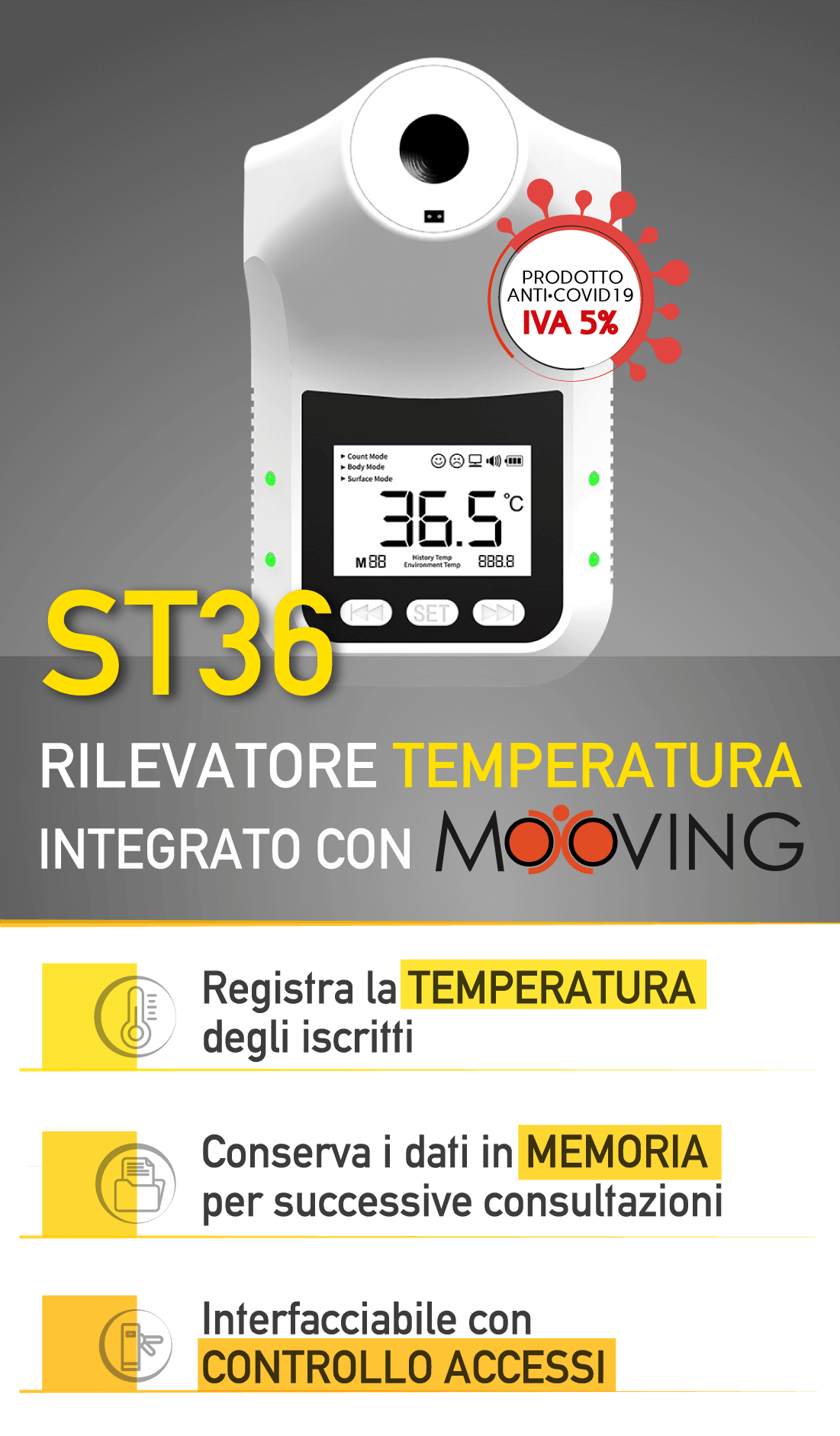 st36 misuratore temperatura integrato con mooving