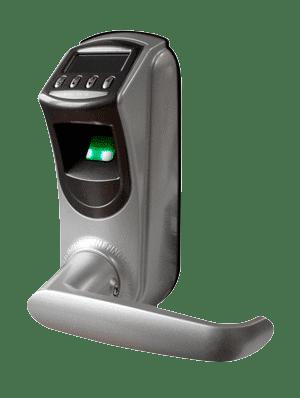 Maniglia apriporta con lettore biometrico di impronte digitali con tastierino per controllo accessi G4MAB