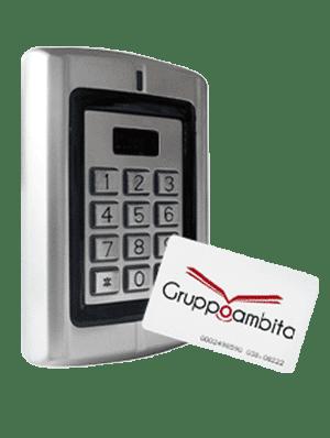 Lettore RFID con tastierino e sistema antivandalo per controllo accessi GAR60IE