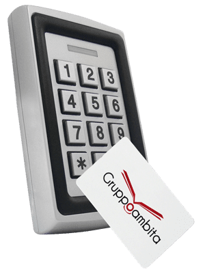 Lettore RFID con tastierino e sistema antivandalo per controllo accessi GTA10
