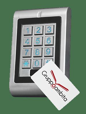 Lettore RFID con tastierino e sistema antivandalo per controllo accessi uso esterno GTA11