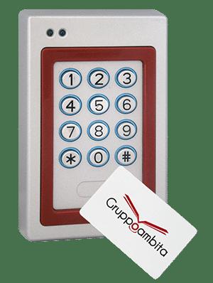 Lettore RFID con tastierino e sistema antivandalo per controllo accessi uso interno ed esterno GTA13