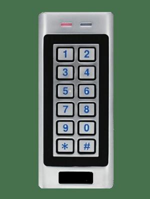 Lettore multiplo (RFID E MIFARE) con tastierino e struttura impermeabile, per controllo accessi uso interno ed esterno KW66