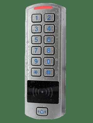 Lettore multiplo (RFID E MIFARE) con tastierino e struttura impermeabile, per controllo accessi uso interno ed esterno KRM66