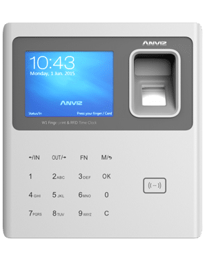 Lettore RFID e biometrico di impronte digitali, con tastiera e display per controllo accessi BPW8