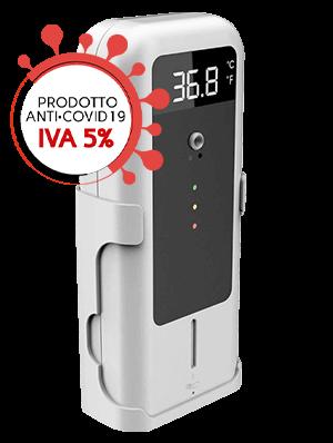 terminale rileva temperatura dispenser gel disinfettante