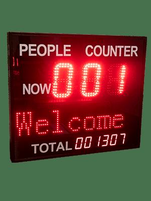 Pannello contapersone con display e sensori infrarossi CP406